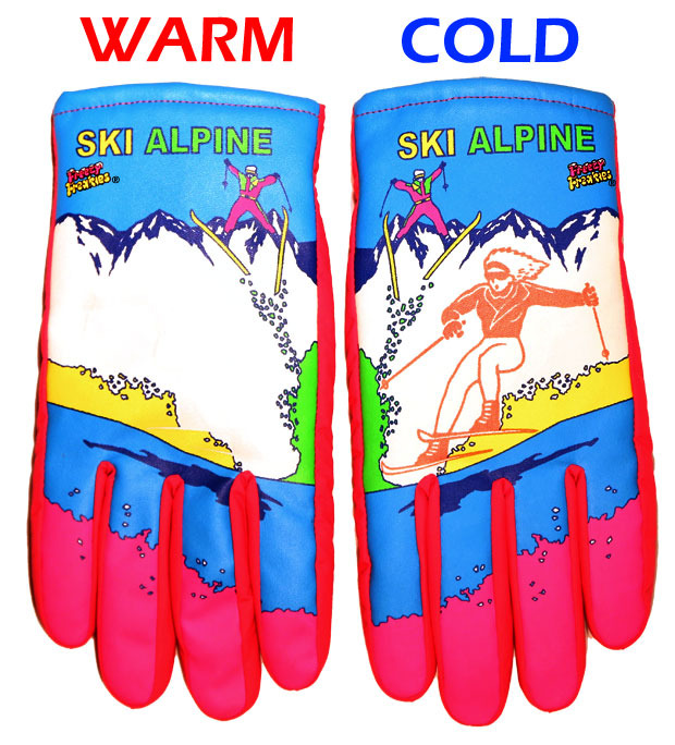 Warm = no skier. Cold = skier. Part science, part tubular.