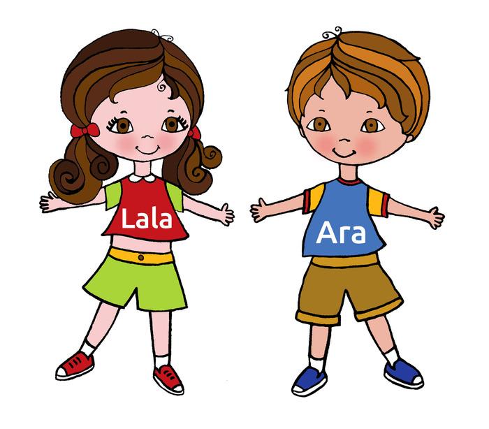 Our main characters: Lala & Ara