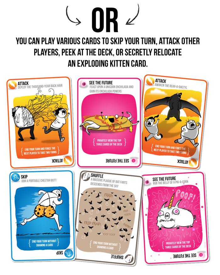 otras cartas en exploding kittens