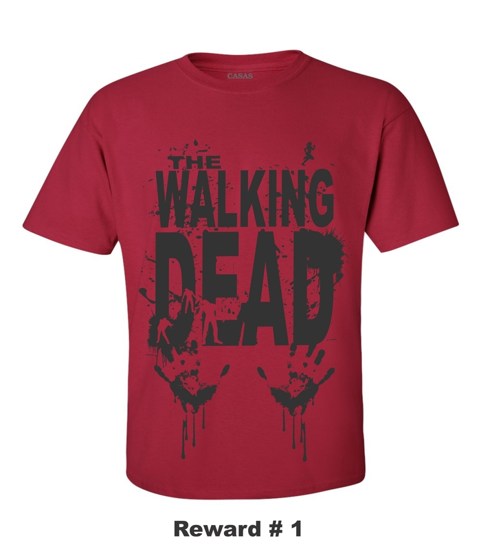 WALKING DEAD RED T-SHIRT
