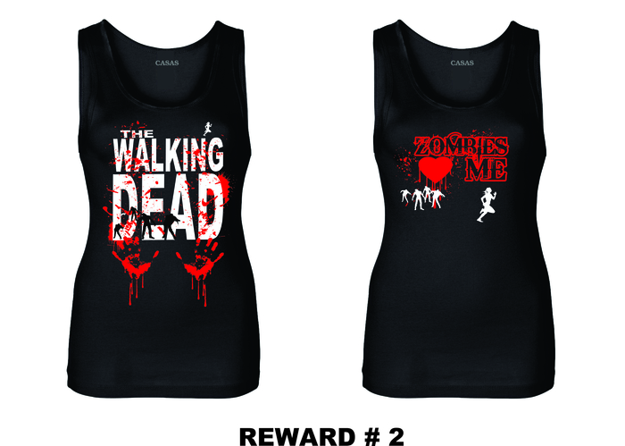 WALKING DEAD & ZOMBIES LOVE ME LADIES TANKS