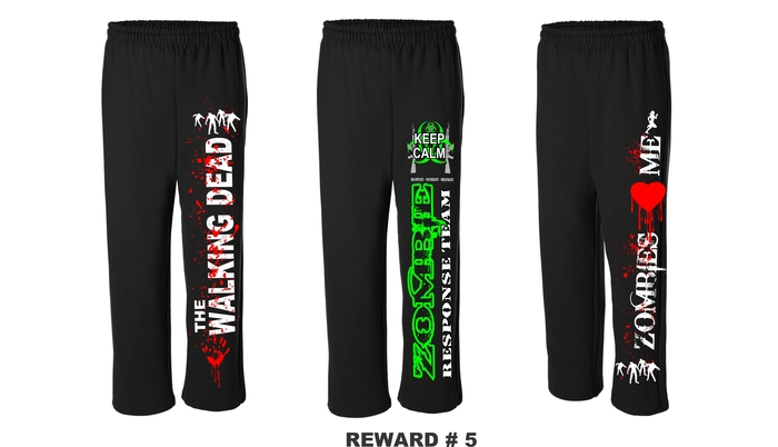 WALKING DEAD, ZOMBIE RESPONSE TEAM & ZOMBIES LOVE ME SWEATPANTS