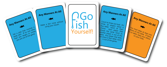 Go fish yourself by the go fish yourself team kickstarter for How to play fish table game