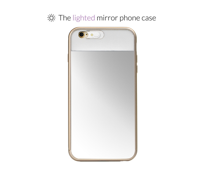 the lighted mirror phone case by lighted mirror kickstarter. Black Bedroom Furniture Sets. Home Design Ideas