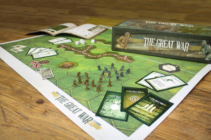 The Great War prototype. Actual game board will not have white border.