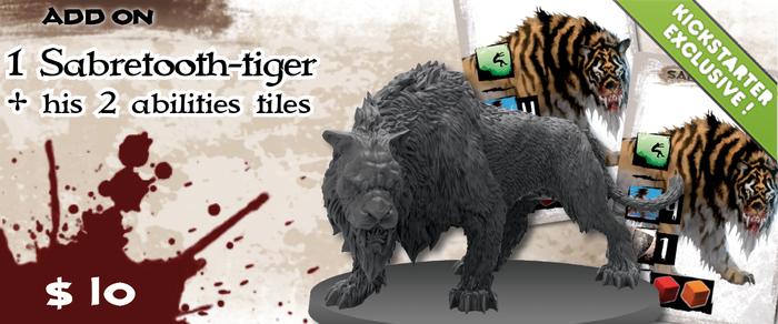 Une bête sauvage venue des endroits sauvages et éloignés du monde, le Tigre à Dents de Sabre est un nouveau Séide qui vient avec un scénario et un guide pour l'inclure dans d'autres aventures.