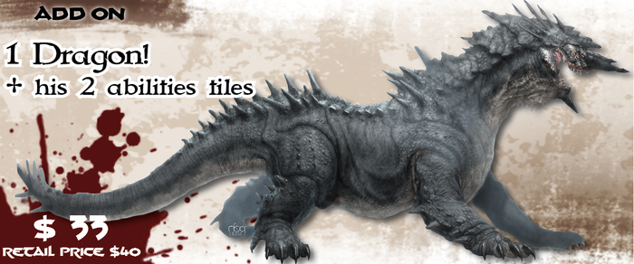 """The """"Dragon"""" is the biggest model we've made for the game and presents a herculean challenge for any and group of adventurers!"""