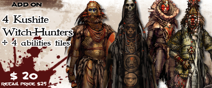 Ageera is often accompanied by his two lieutenants Afari and Shubba. This pack will let you play this dangerous Warrior/mage duo as well as their personal bodyguards!