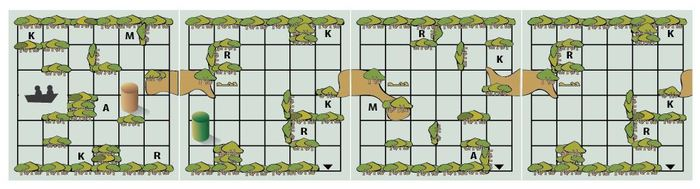 Sample image of the swamp in Swamped! Print and Play