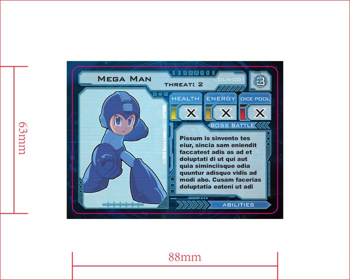 Protagonist card back - Mega Man