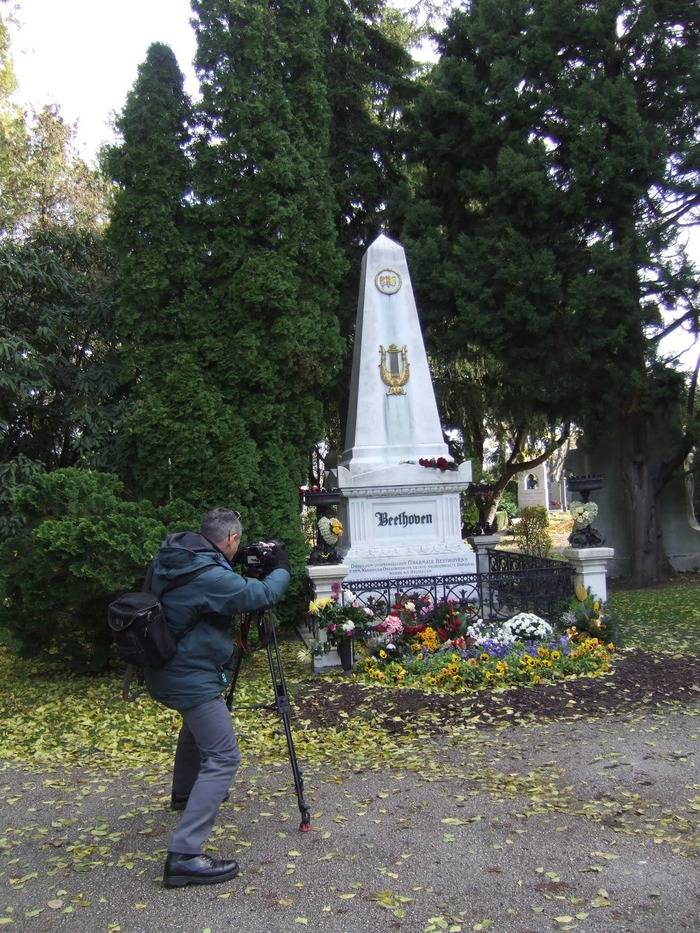 Filming At Beethoven's Grave, Vienna