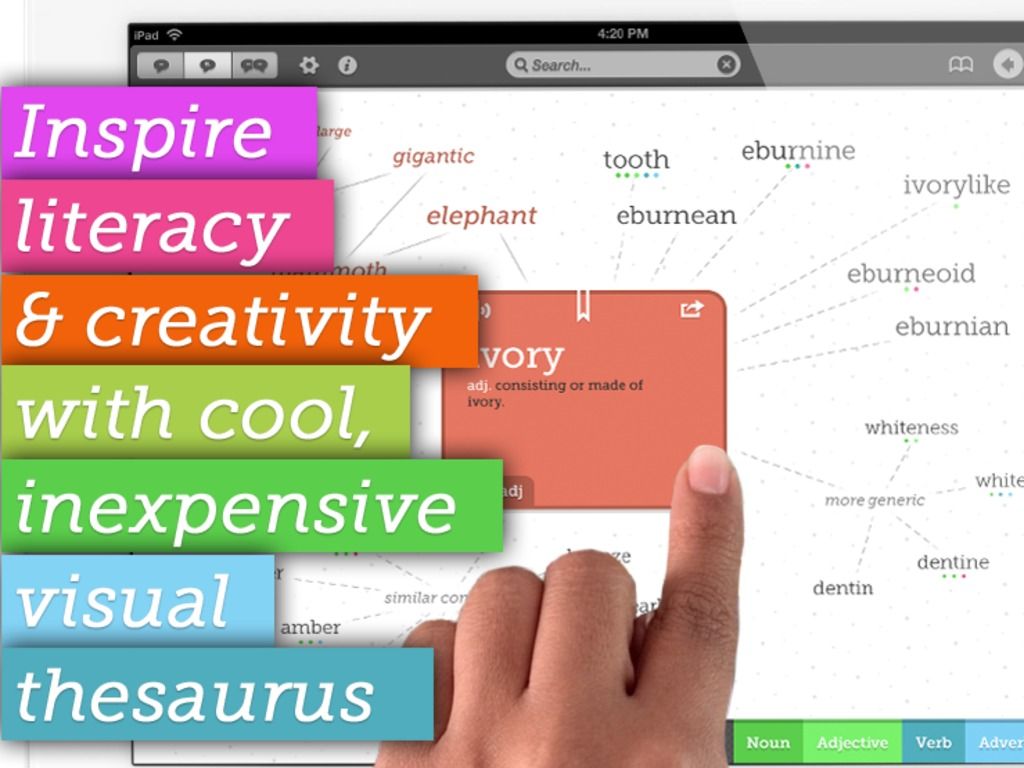 Inexpensive visual thesaurus app to inspire love of words's video poster