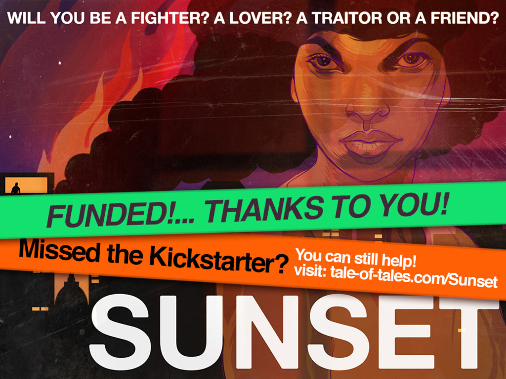 SUNSET - a first-person videogame thriller's video poster
