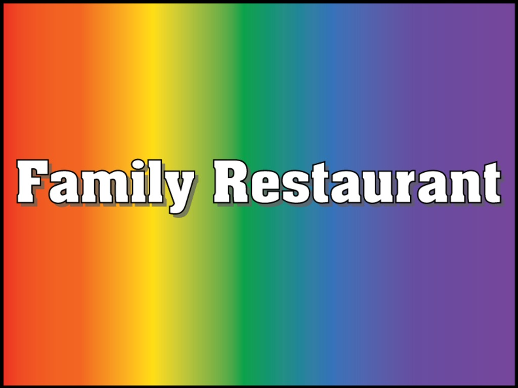 Family Restaurant, film for kids with gay / lesbian parents's video poster