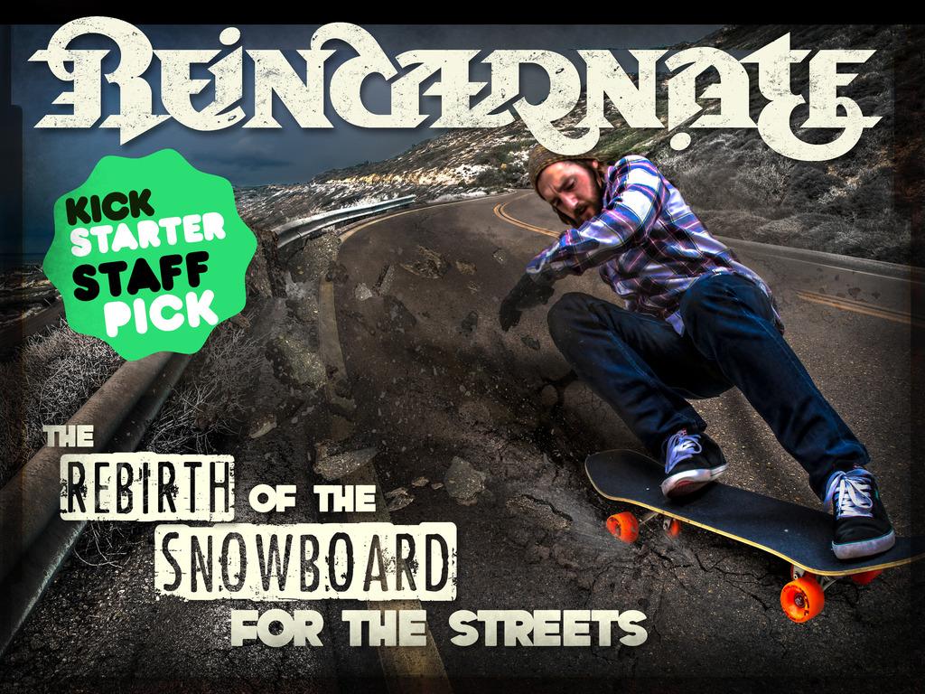 Reincarnate Manufacturing's New Skateboard Blends Skateboarding and Snowboarding