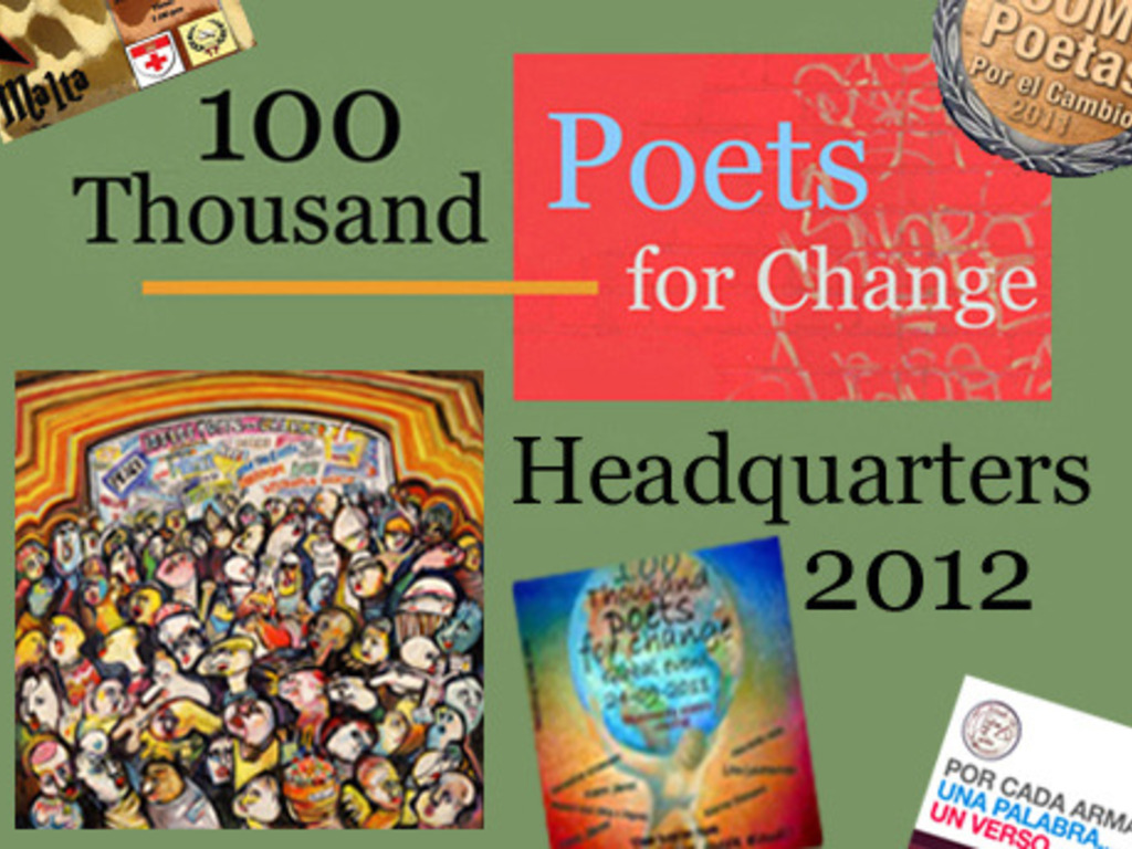 100 Thousand Poets for Change,  Headquarters Event's video poster