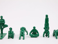 Yoga Joes: the classic green army men doing yoga