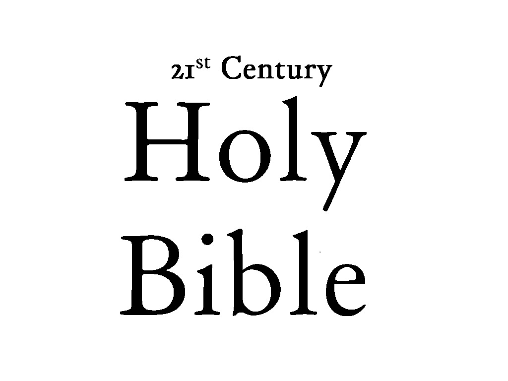 21st Century Holy Bible's video poster