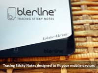 Blerline 'Tracing Sticky Notes' designed for Mobile Devices