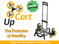 UpCart: Stair-climbing folding cart that's up for anything!