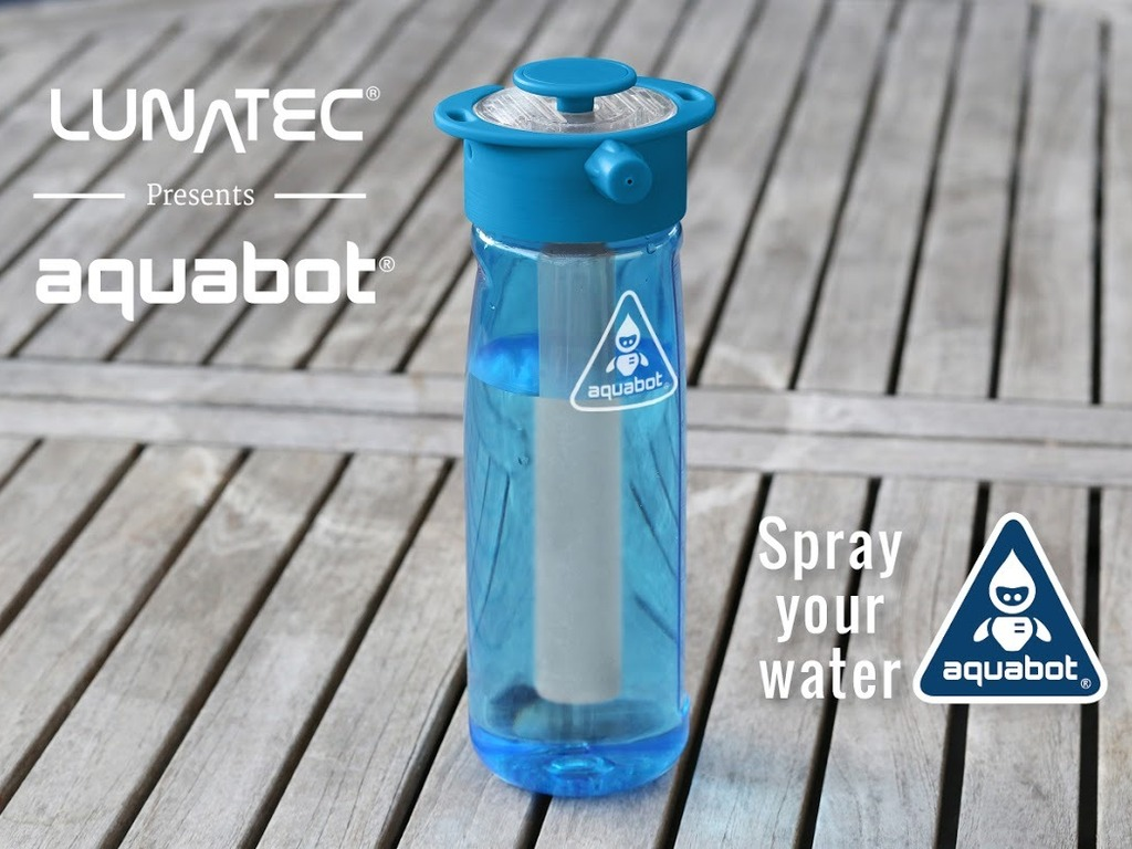 AQUABOT: Makes Your Water Bottle Spray 25 Feet!'s video poster