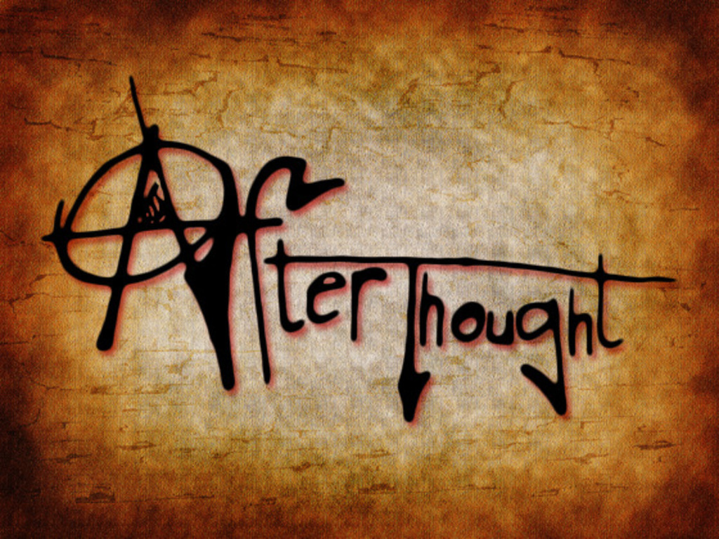 After Thought's video poster