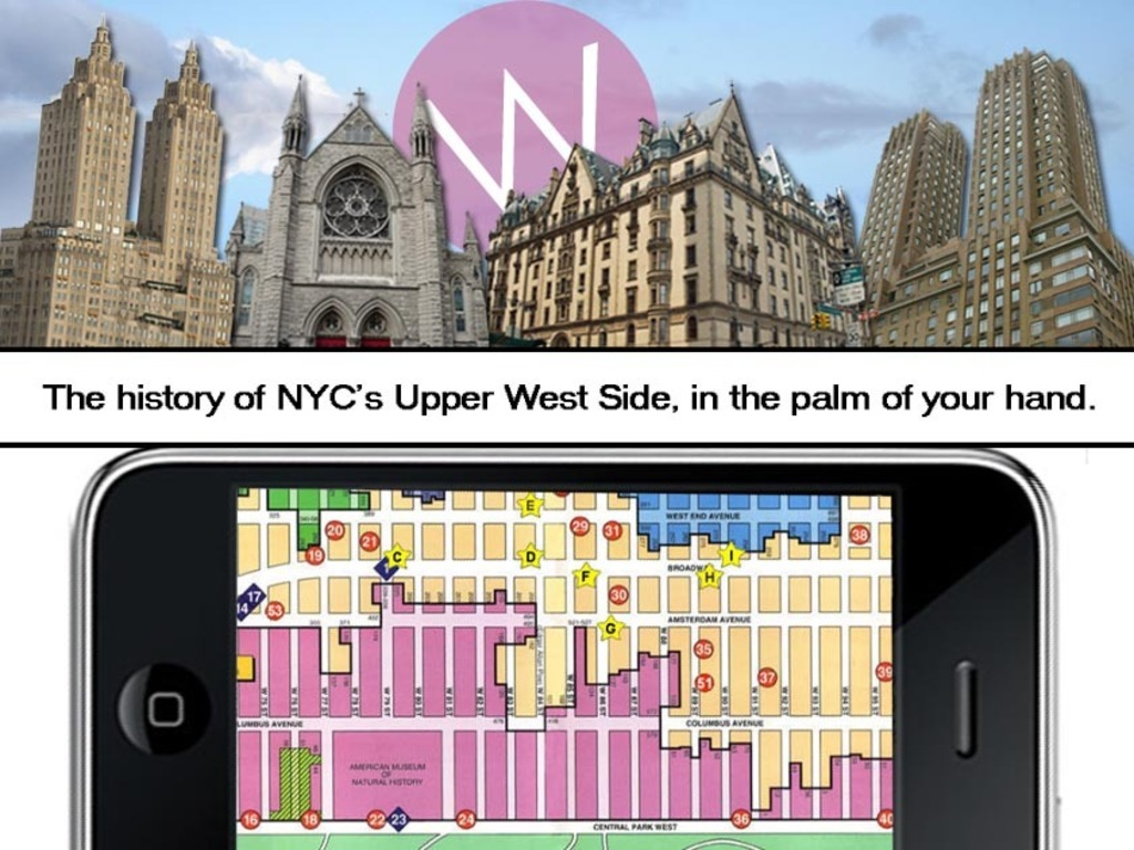 First ever iPhone walking tour app for NYC's Upper West Side  's video poster