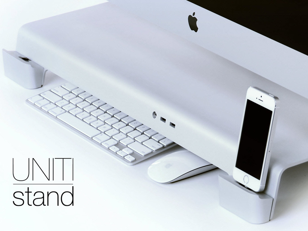 UNITI Stand: For iMacs & Apple Displays. Organize your Desk.'s video poster