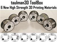 taulman3D ToolBox of 6 new materials!