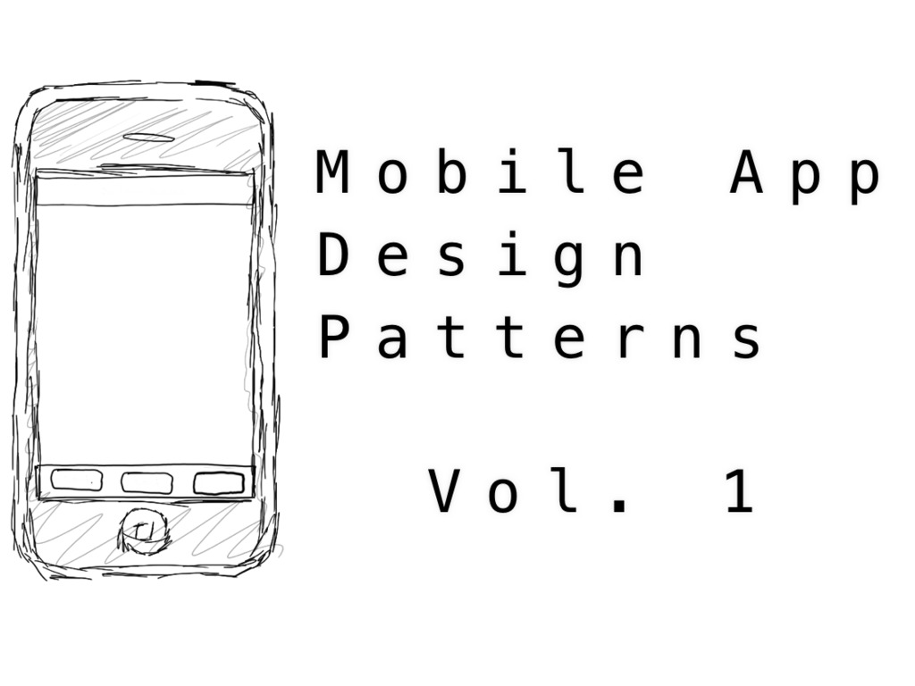 Mobile App Design Patterns, Vol. 1's video poster