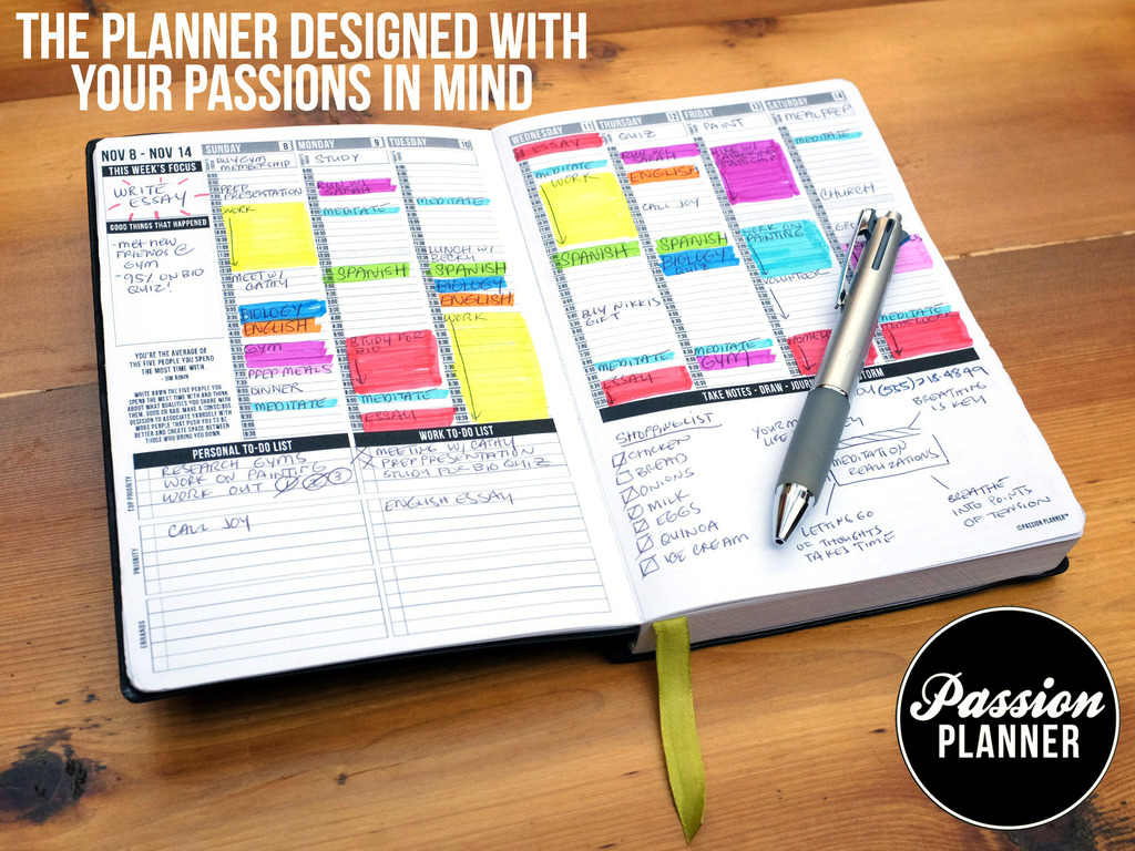 Kickstarter Calendar Planner : Passion planner the one place for all your thoughts by