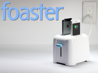 foaster. a toaster for your phones. (and tablets!)