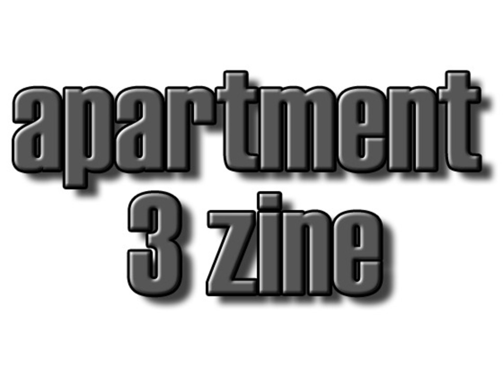 Apartment 3 Zine's video poster