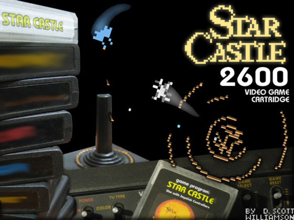 Atari 2600 Star Castle's video poster