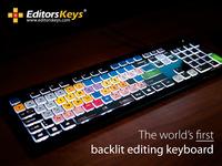 Backlit Shortcut Editing Keyboard - For all editors.