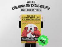 WORLD EVOLUTIONARY CHAMPIONSHIP POSTERS