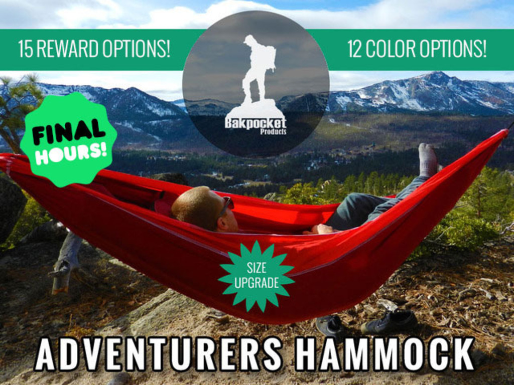 Adventurers Hammock - Use a Hammock, Lose the Tent's video poster