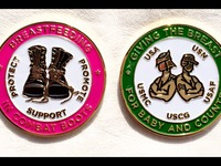 Breastfeeding in Combat Boots Challenge Coin
