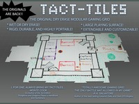 Tact-Tiles: Modular Wet and Dry Erase Gaming Surface