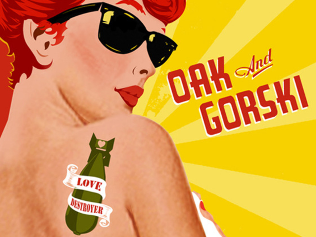 """Oak and Gorski's new EP, """"Love Destroyer""""'s video poster"""