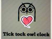 "tick tock ""save the hooters"" owl clock"
