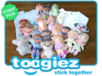 toogiez - playable, wearable, stickable sidekicks!