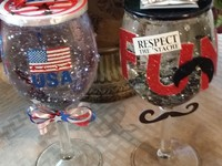 KRAZIE KRAFTS: wine glass globes are a glass of happiness
