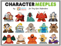 Character Meeples for Tiny Epic Defenders