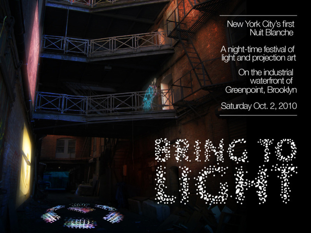 Bring to Light: Nuit Blanche New York's video poster