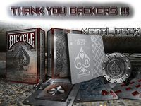 Bicycle METAL RIDER BACK Playing Cards by Max