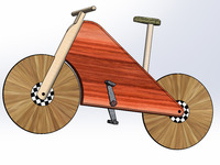 Wooden Laminate Track Bike
