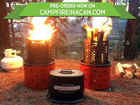 The Amazing Campfire In A Can at last a 2-in-1 campfire!