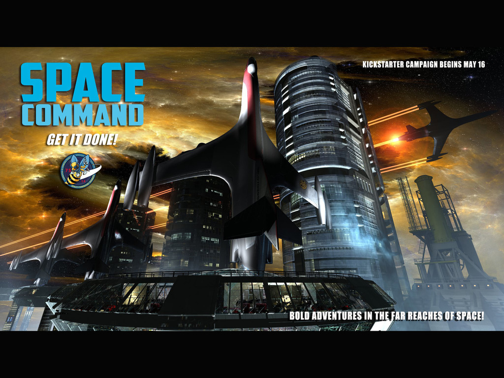 Space Command's video poster
