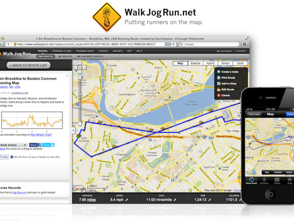WalkJogRun Running Routes Android App's video poster